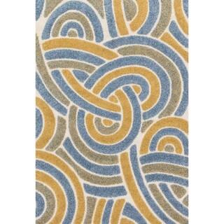 Jullian Multi Abstract Shag Rug (7'7 x 10'6)