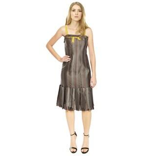 Carolina Herrera Textured Silk Pleated Cocktail Dress
