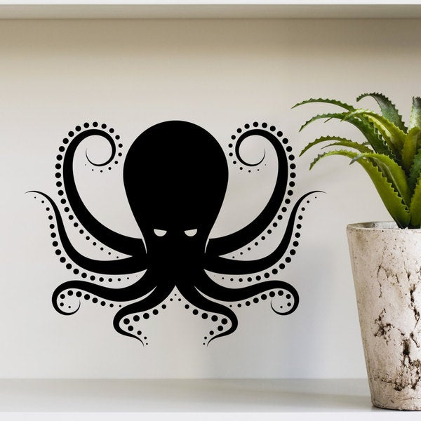Wall Decal Octopus Kraken Tentacles Sea Animal Design Interior Wall Decals Living Vinyl Stickers Home Decor