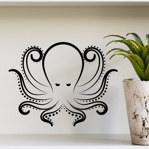Octopus Kraken Tentacles Sea Design Interior Wall Decals Living Room Bedroom Vinyl Stickers