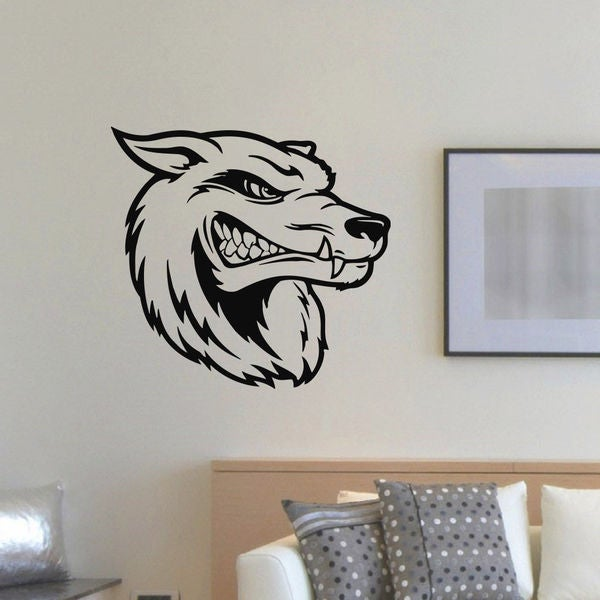Grin Wolf Vinyl Wall Art Decal Sticker