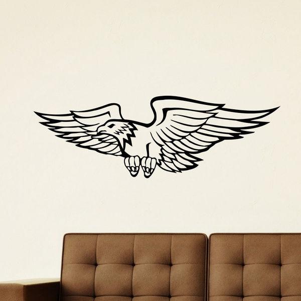Flying Eagle Vinyl Wall Art Decal Sticker
