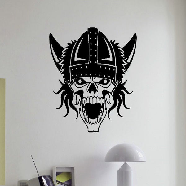 Viking Skull Vinyl Wall Art Decal Sticker