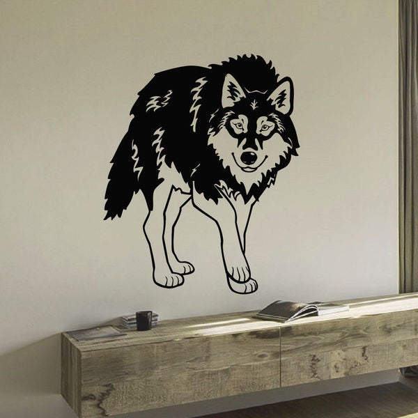 Stolen Wolf Vinyl Wall Art Decal Sticker