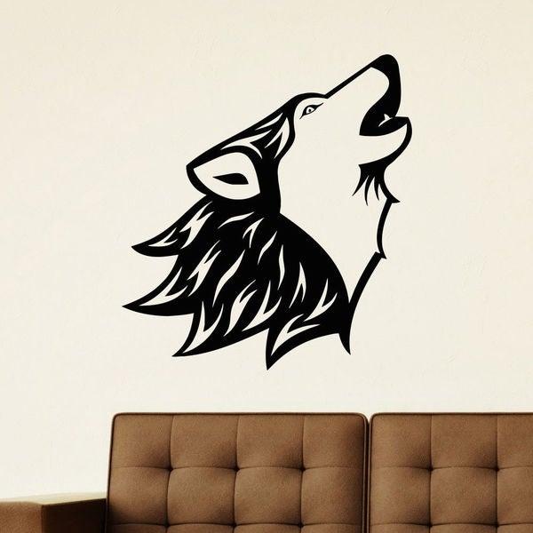 Roar Of The Wolf Vinyl Wall Art Decal Sticker