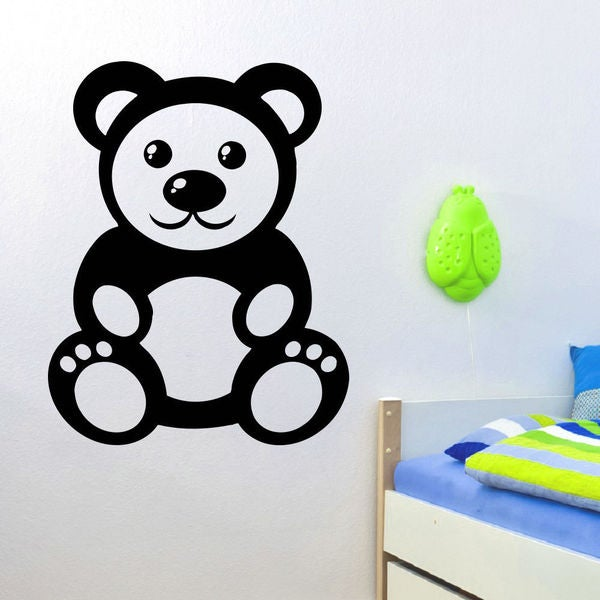Anime Funny Panda Wall Art Sticker Decal