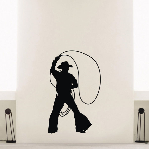 Cowboy Dances Wall Art Sticker Decal