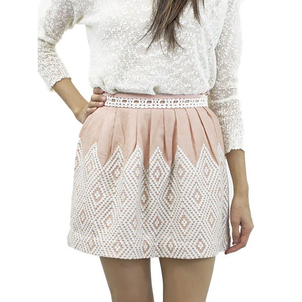 Relished Women's First Kiss Embroidered Skirt
