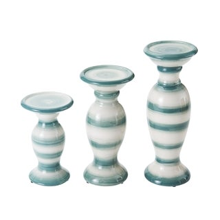 Elements Teal Fade Pillar Holders Set of 3