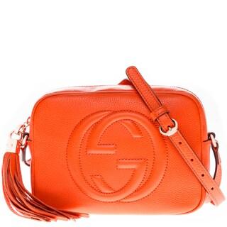 Gucci Soho Orange Leather Disco Bag