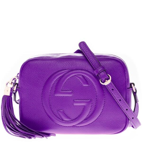Gucci Soho Bright Purple Leather Disco Bag