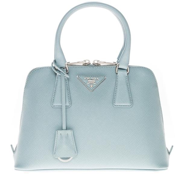 Prada Light Blue Small Saffiano Lux Promenade Bag