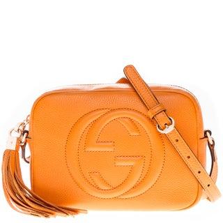 Gucci Soho Light Orange Leather Disco Bag