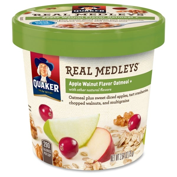 Quaker Oats Real Medleys Apple Walnut Oatmeal - (12 PerCarton)
