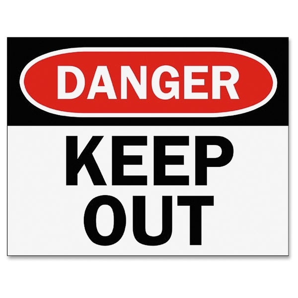 Tarifold Safety Sign Inserts-Danger Keep Out - (6 PerPack)