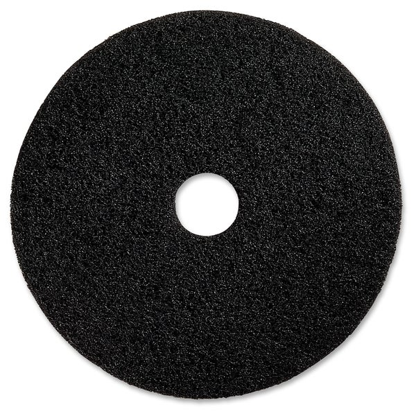 "Genuine Joe 13"" Black Floor Stripping Pad - (5 PerCarton)"
