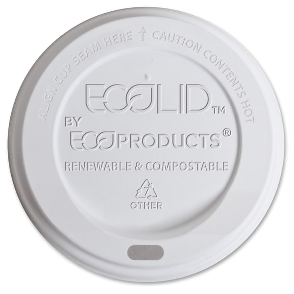 Eco-Products Renewable EcoLid Hot Cup Lids - (800 PerCarton)