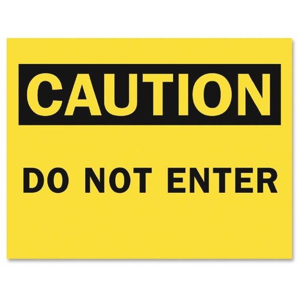 Tarifold Safety Sign Inserts-Caution Do Not Enter - (6 PerPack)