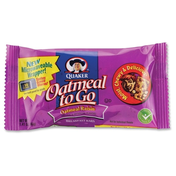 Quaker Oats Oatmeal To Go Oatmeal/Raisin Breakfast Bar - (125 PerCarton)