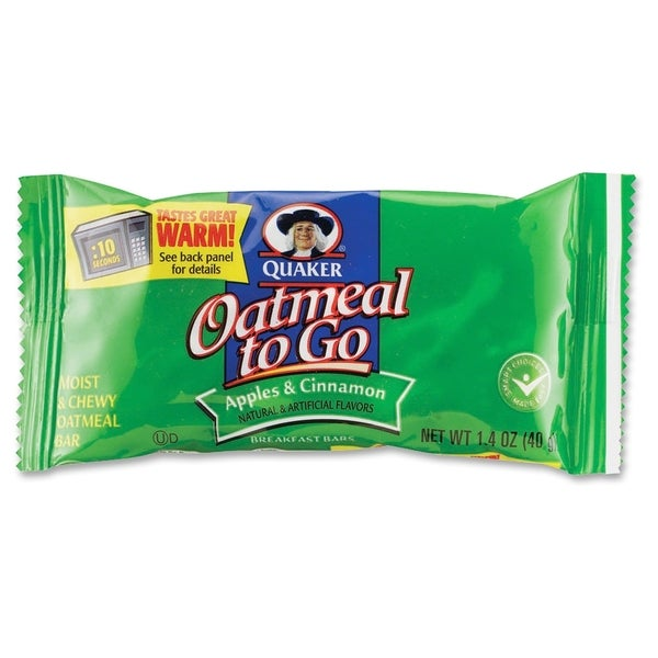 Quaker Oats Oatmeal To Go Apples/Cinnamon Breakfast Bar - (125 PerCarton)