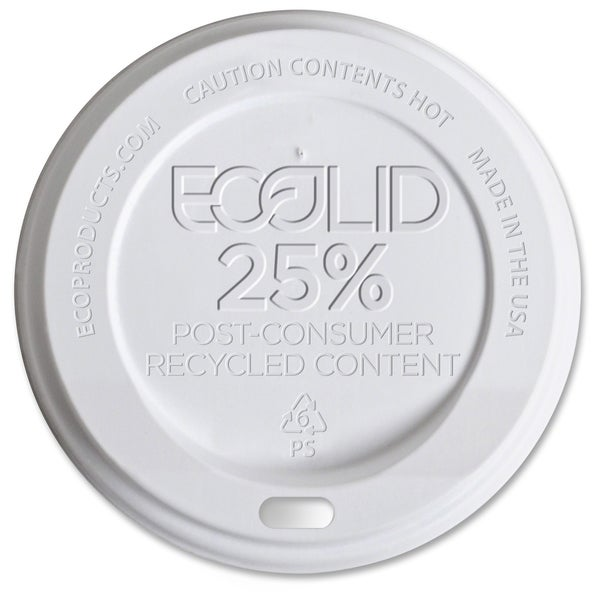 Eco-Products EcoLid Recycled Large Hot Cup Lids - (1000 PerCarton) 17267901