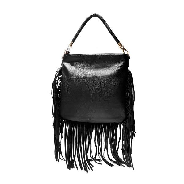 Olivia Miller 'Betsy' Long Fringe Shoulder Handbag