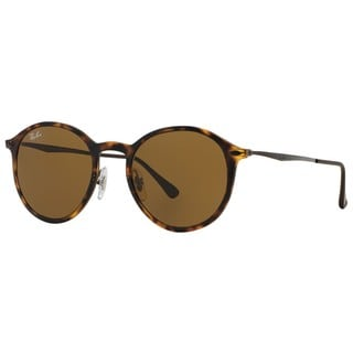 Ray-Ban RB4224 894/73 Round Light Ray Unisex Tortoise/Gunmetal Frame Brown Classic 49mm Lens Sunglasse