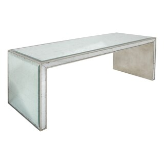 Safavieh Couture Collection Sonia Acacia Silver Leaf Eglomise Coffee Table