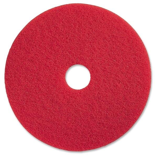 "Genuine Joe 13"" Red Buffing Floor Pad - (5 PerCarton)"