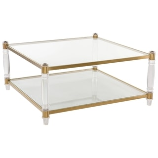 Safavieh Couture Collection Isabelle Bronze Brass Coffee Table