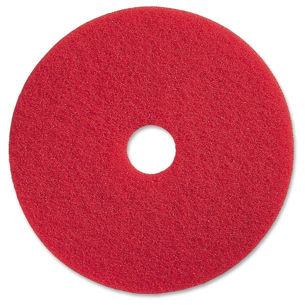"Genuine Joe 19"" Red Buffing Floor Pad - (5 PerCarton)"