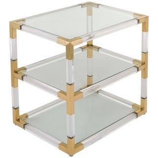 Safavieh Couture Collection Louisa Bronze Brass End Table