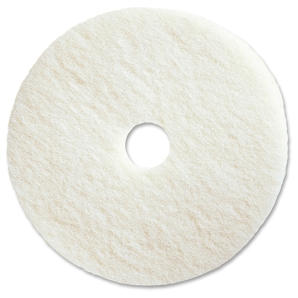 "Genuine Joe 20"" White Polishing Floor Pad - (5 PerCarton)"
