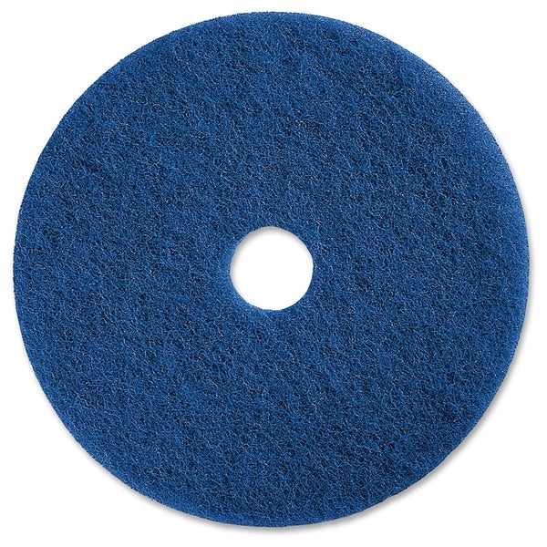 "Genuine Joe 20"" Medium-duty Blue Scrubbing Floor Pad - (5 PerCarton)"