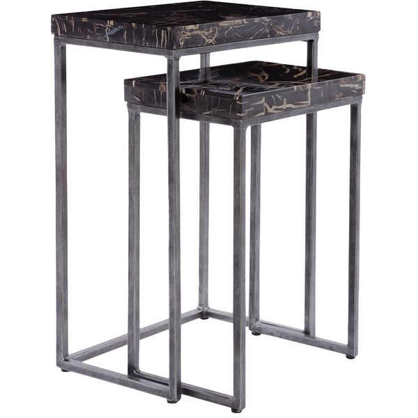 Safavieh Couture Collection Briar Black/ Natural Nesting Tables