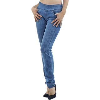 Women's Medium Wash Slim Leg Denim