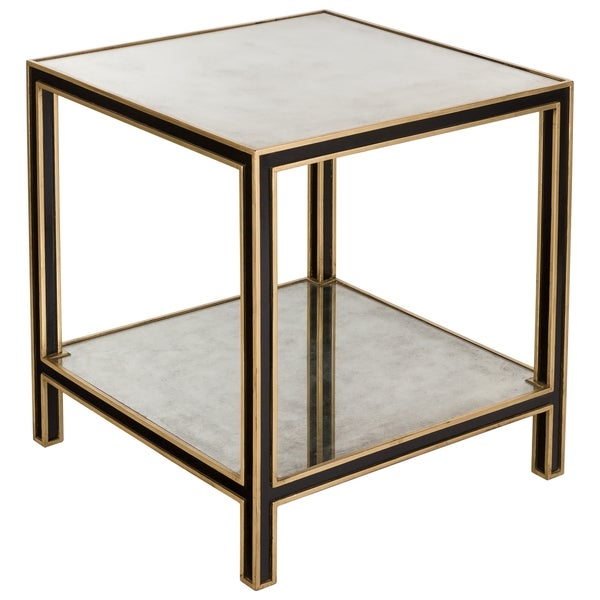Safavieh Couture Collection Cambria Acacia Black/ Gold End Table