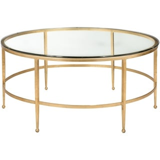 Safavieh Couture Collection Edmund Antique Gold Gilt Round Cocktail Table