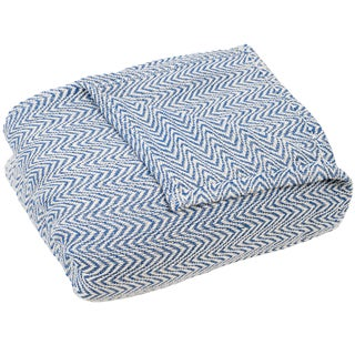 Windsor Home Chevron 100-percent Egyptian Cotton Blanket