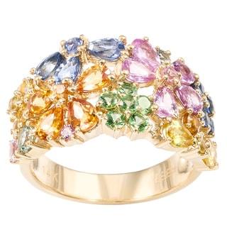 EFFY Final Call 14k Gold Multicolor Sapphire Gemstone Flower Ring