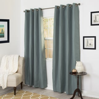 Windsor Home Linen Look 84-inch Black Out Curtain Panel