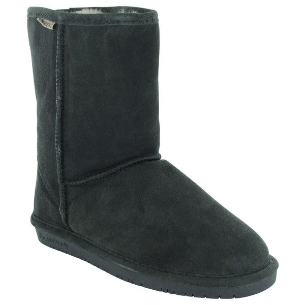 Bearpaw Womens Emma Short 8-Inch Sheepskin Suede Boots