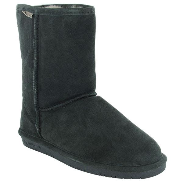 Bearpaw Womens Emma Short 8-Inch Sheepskin Suede Boots