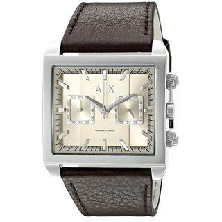 Armani Exchange Men's AX2224 'Tenno' Chronograph Brown Leather Watch