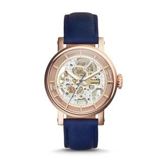 Fossil Women's ME3086 'Original Boyfriend' Automatic Blue Leather Watch