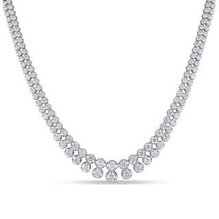 Miadora Signature Collection 18k White Gold 5 1/6ct TDW Diamond Multi-row Tennis Necklace (G-H, SI1-SI2)
