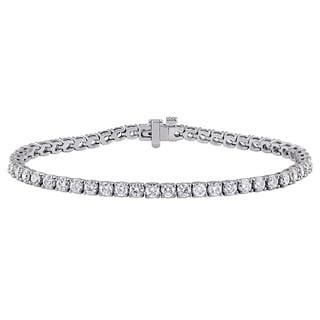 Miadora Signature Collection 14k White Gold 5ct TDW Diamond Tennis Bracelet (F-G, SI1-SI2)