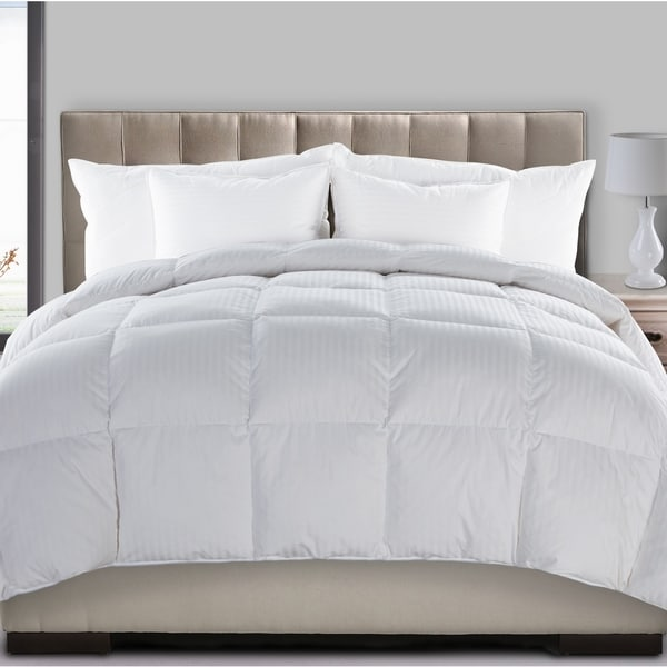 Extra Warmth Dobby Stripe 300 Thread Count Hyper Down and Feather Blend Comforter