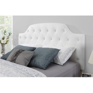 Dorel Living Lyric White Button Tufted Headboard