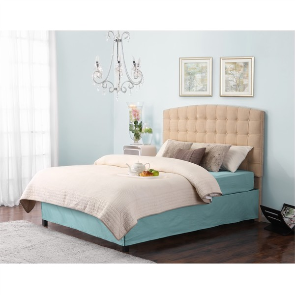 Dorel Living Torino Beige Tufted Headboard